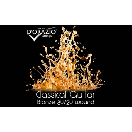 D'orazio 640, Bronze 80/20 / Black Nylon / Hard Tension