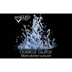 D'orazio 641, Silverplated / Black Nylon / Hard Tension