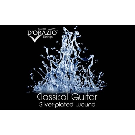 D'orazio 641, Silverplated / Black Nylon / Hard Tension