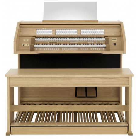 JOHANNUS ECCLESIA CHOIR 4 X 26 SPEAKING STOPS / 2 MANUALS / 30-NOTE STRAIGHT PEDAL BOARD / LIGHT OAK