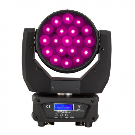 MHL-19-12W-RGBW  Beam & Wash LED Moving Head 19-12W RGBW 4in1 with Zoom