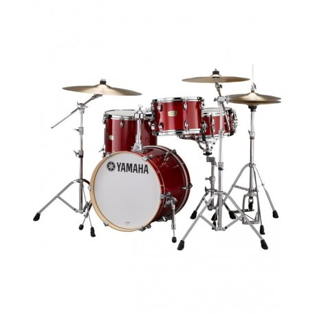 "Yamaha Stage Custom Bop Drum Kit - 3 pieces - 18"" Kick - Cranberry Red"