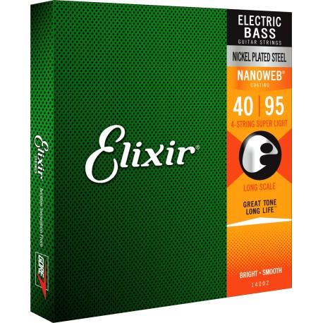 Elixir Bass Nanoweb X-Long 0.40-0.095